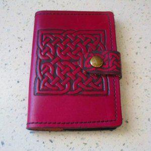 Celtic Leather Wallet Dark Purple Bifold